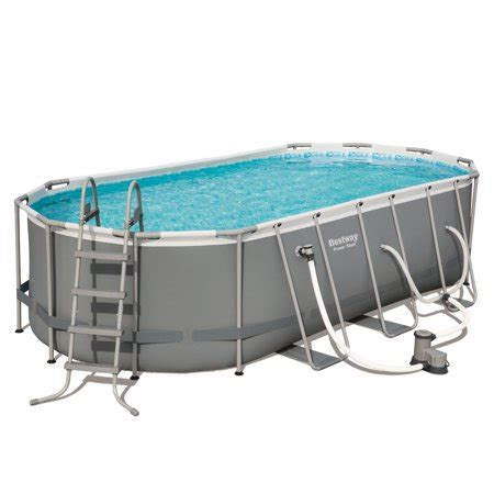 power steel      oval pool set walmartcom