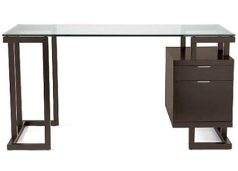 Home Office Desk With Glass Top Desk Modern Linear Home Office Desk With Glass Top