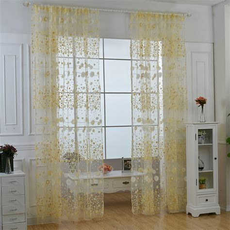 tulle curtain panel floral print sheers voile scarf door window curtain drape