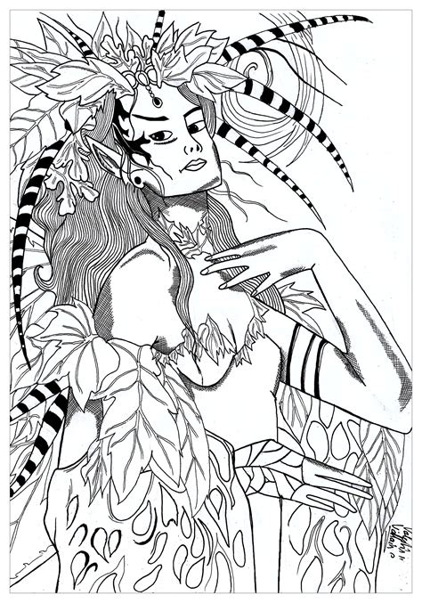 mother nature coloring page fairy nature for valentin myths legends coloring