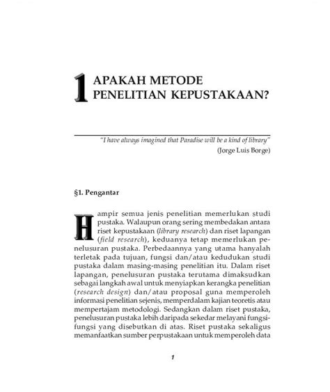 Yayasan Obor Metodologi Penelitian Kebidanan buku metode penelitian kepustakaan oleh mestika zed scoop indonesia
