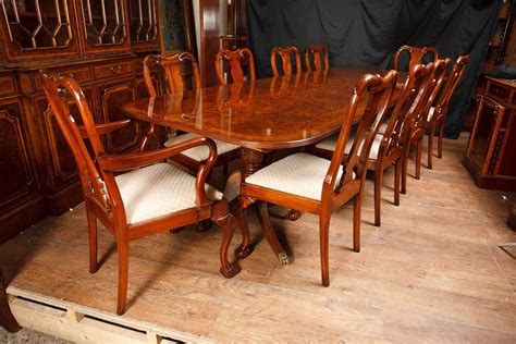 queen anne dining room sets walnut dining set regency table and queen anne chairs