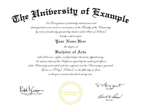 degree certificates templates buy a college diploma