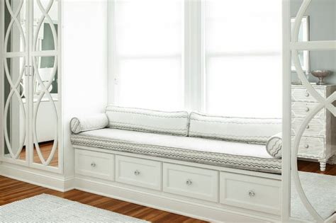 Window Seat With Cabinets by Window Seat Flanking Wardrobe Cabinets For The Home