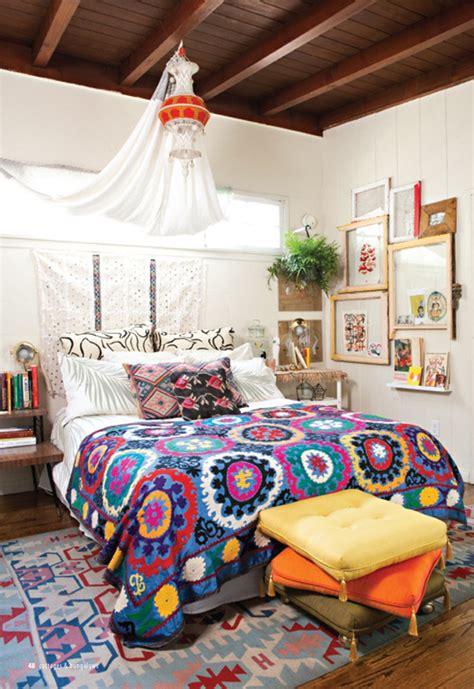 small bohemian bedroom design