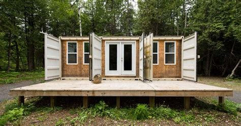355 square feet step inside this 355 square feet container home to see what open concept means