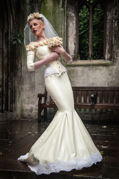 A Latex Wedding Dress to Remember by Am Statik   **** Love