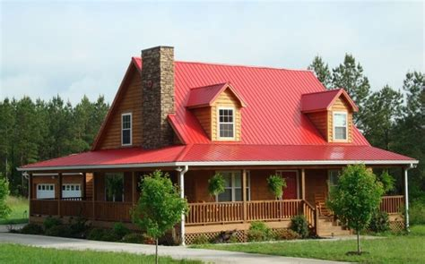 Country House With Wrap Around Porch by Metal Roof Cost Materials And Installation Prices