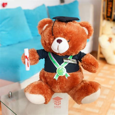 Boneka Wisuda Teddy M 35cm jual hadiah boneka teddy coklat 35 cm murah kado wisudaku