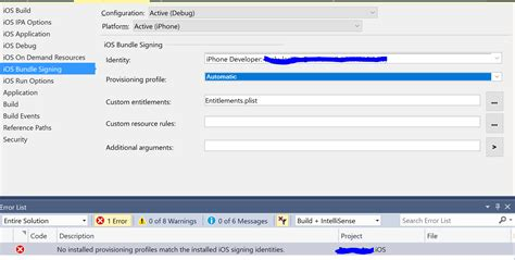 cant find ios template in xamarin studio xamarin forums can t see my provisioning profile in visual studio