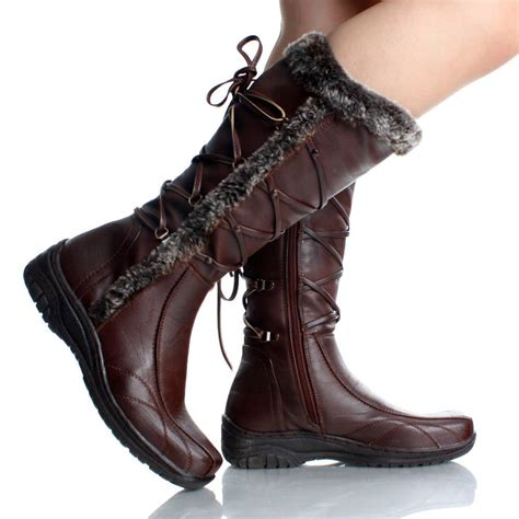 womens leather winter boots cr boot