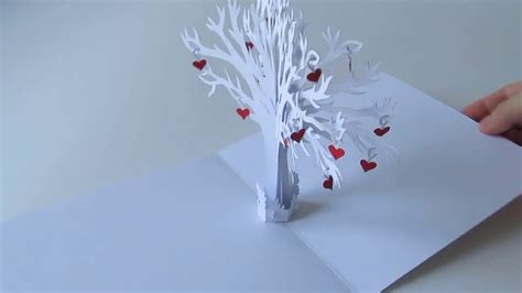 Family Love Tree Pop Up Card Youtube Tree Pop Up Card Template 2