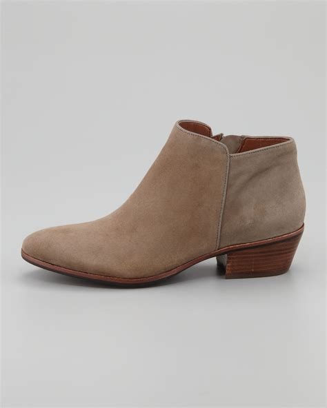 suede boot lyst sam edelman womens petty suede ankle boot in brown