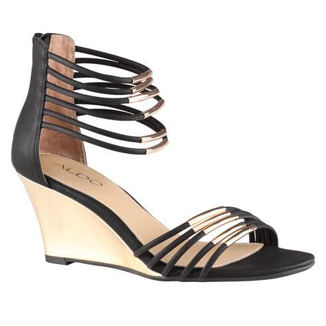 aldo kealla wedge sandals in black lyst