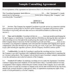 Consultancy Agreement Letter Format Consulting Agreement 9 Free Sles Exles Format Sle Templates