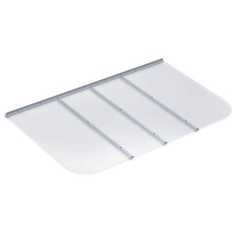 polycarbonate window well covers ultra protect 69 in x 42 in rectangular clear