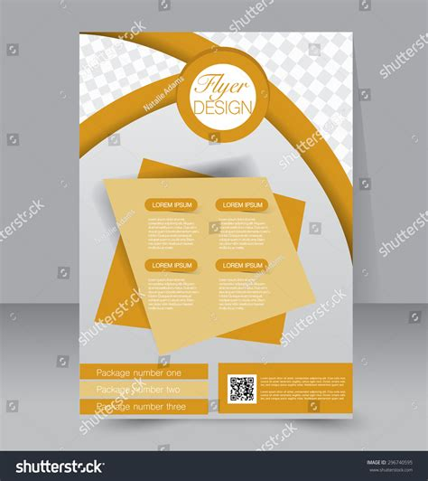 Flyer Template Business Brochure Editable A4 Stock Vector 296740595 Shutterstock Editable Flyer Templates