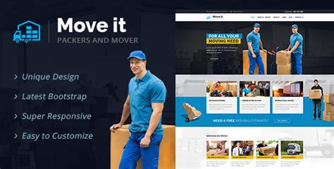 Moveit Moving Company Html Template By Designarc Themeforest Packers And Movers Html Templates