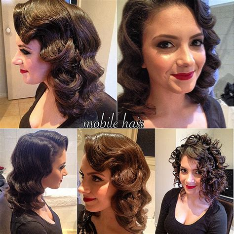 wave haircut 50s curly hairstyles unique 50s hairstyles for curly ha