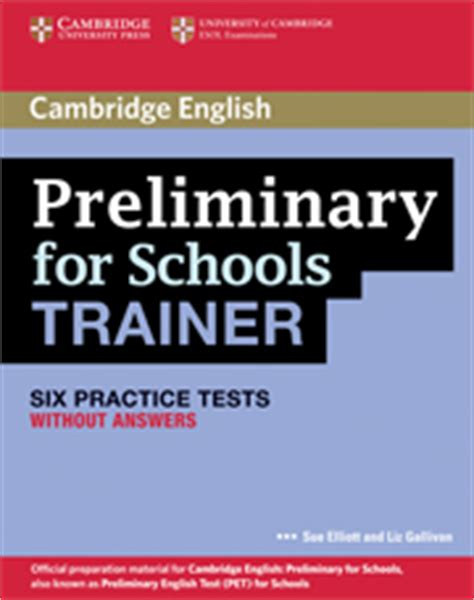 libro ket for schools trainer comment pr 233 parer le cambridge english preliminary pet for schools