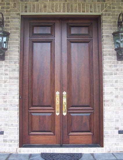 custom french country solid wood double doors exterior