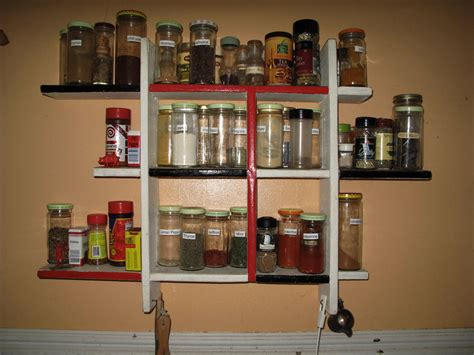Home Made Spice Rack spice rack and curried rhubarb chickenour twenty minute kitchen garden