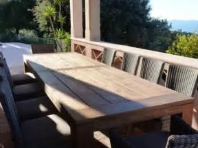 table de jardin gescova table en bois de