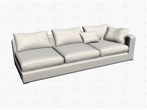 sofa unit 3d model sofa unit section 2404dx b b italia collection