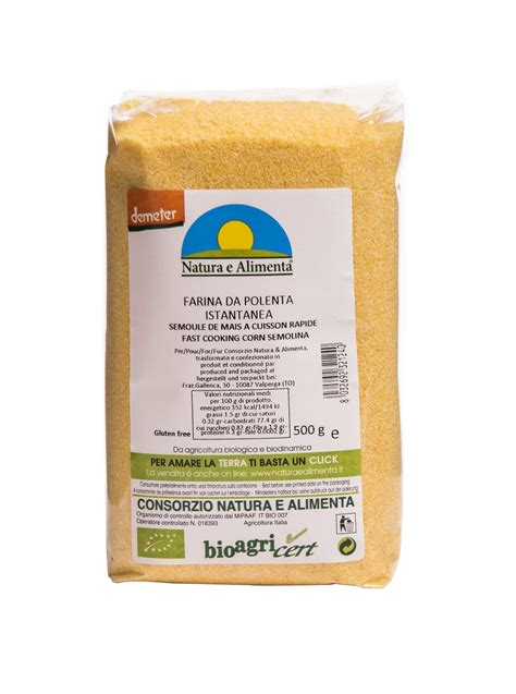 natura e alimenta farina da polenta istantanea demeter natura e alimenta
