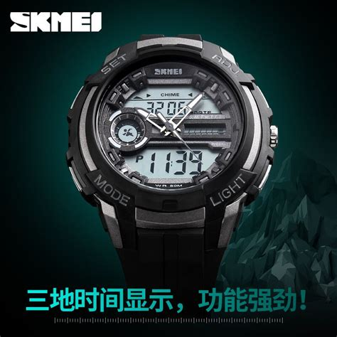 Jam Tangan Pria Led Iron Aksesories Pria skmei jam tangan analog digital pria ad1202 titanium gray jakartanotebook