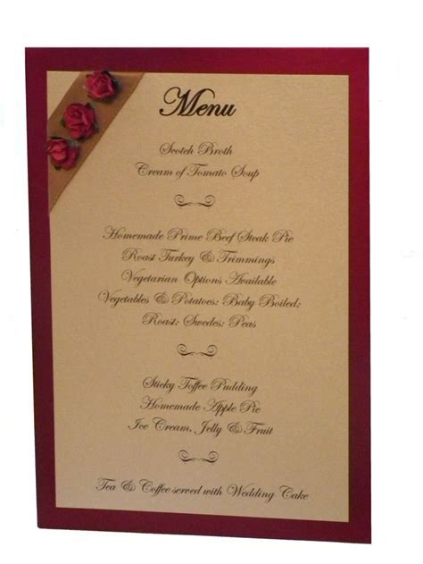 17 Best ideas about Wedding Breakfast Menus on Pinterest