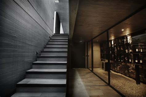 exterior house steps design modern house with concrete exterior and stone base sobrino house home building