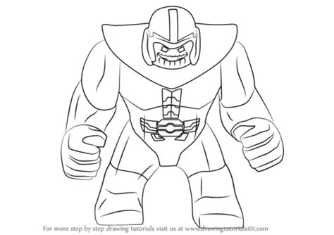 Mini Penguin Syari by Lego Thanos Coloring Pages Coloring Page