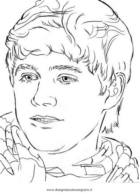 niall horan cartoon colouring pages picture