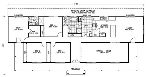 five bedroom floor plans the karingal mk iii 4 bedroom home kit homes online