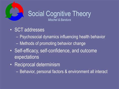 Self Efficacy In Based Learning Environments A Literature Review by Ppt Social Cognitive Theory Powerpoint Presentation Id 252938