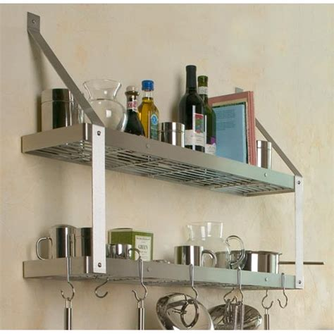 bookshelf pot rack in wall mount pot racks