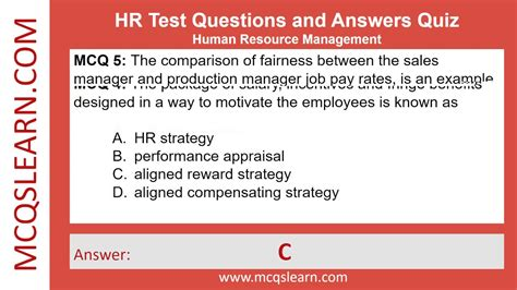 quiz questions youtube hr test questions and answers mcqslearn free videos