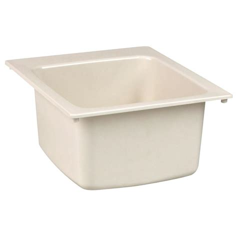 home depot utility sink mustee 22 in x 25 in molded fiberglass self rimming
