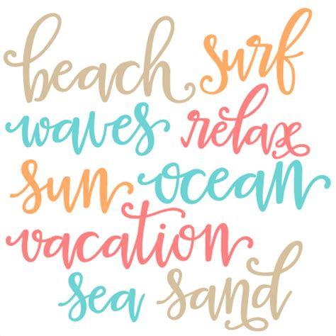 printable beach fonts beach words svg scrapbook cut file cute clipart files for