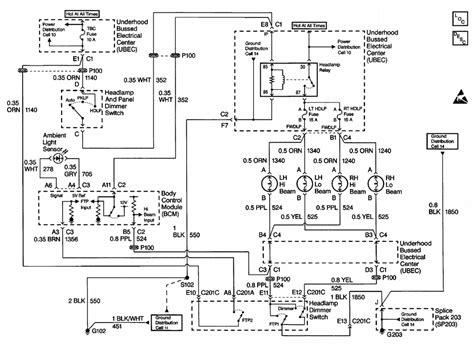 1999 1500 silverado wiring diagram 1999 silverado 1500 cruise and high beam lights remain