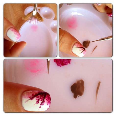 nail art cherry blossom tutorial cherry blossom nails tutorial nailed it pinterest