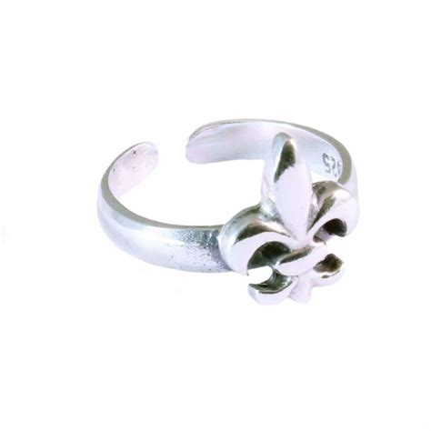 charm school uk gt sterling silver toe rings gt fleur de lis