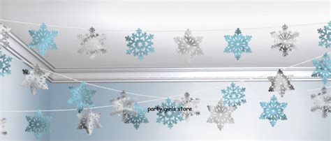 hanging snowflakes from ceiling snowflake string decoration garland hanging