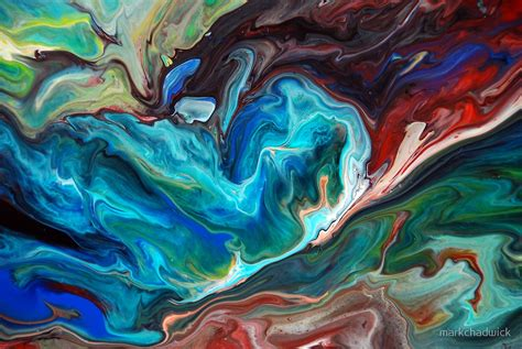 acrylic paint effects on canvas quot colourful abstract fluid painting quot by markchadwick