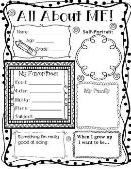 about me template for students all about me poster teachers pay teachers