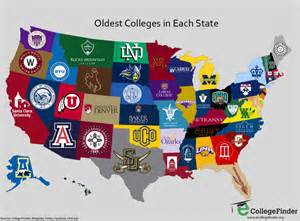 map of us universities map the oldest college in every state business insider
