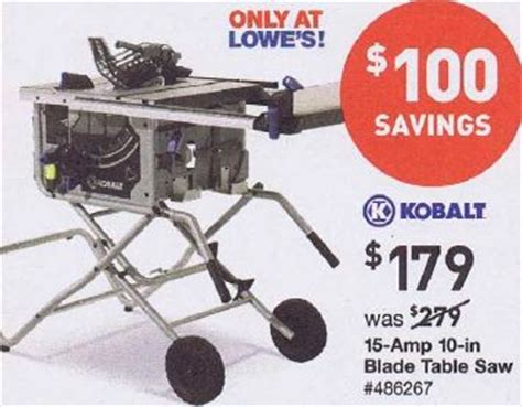 black friday table saw black friday deal kobalt 10 in table saw kt1015