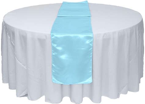 Baby Blue Table Runner by Baby Blue Satin Table Runner Satin Table Runners For