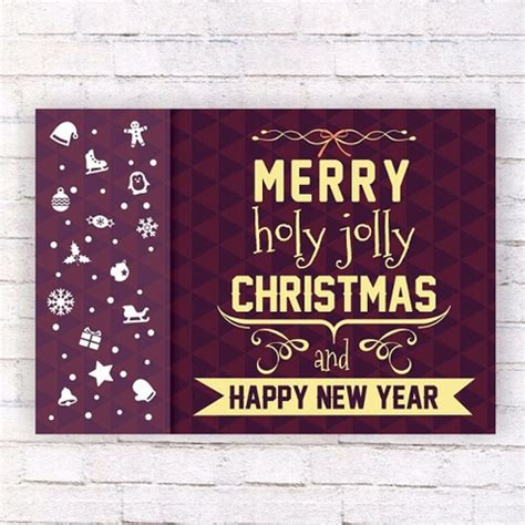 new year printable posters merry holy jolly and happy new year wall poster